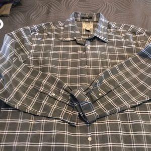 Casual grey checked dress shirt